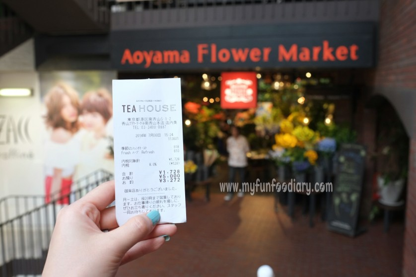 Expenses at Aoyama Flower Market in Tokyo Japan by Myfunfoodiary