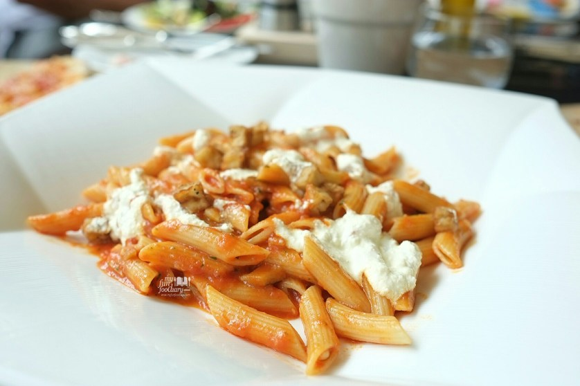 Penne ala Norma at Rosso Shangrila Jakarta by Myfunfoodiary