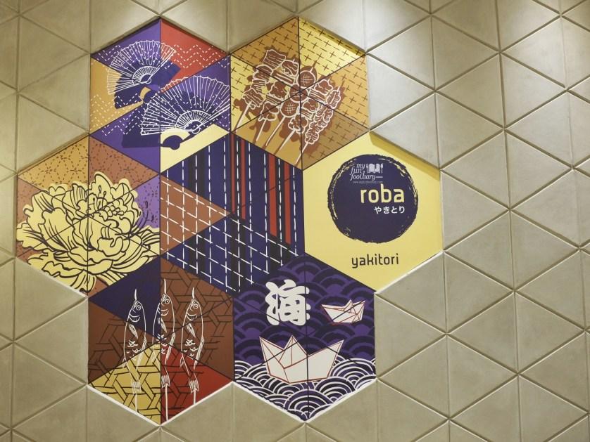 Wall Decoration at Roba Yakitori Mall Taman Anggrek by Myfunfoodiary