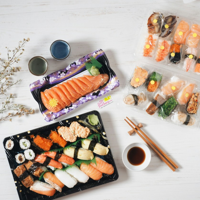 Cheap Sushi and Sashimi at AEON Market BSD City by Myfunfoodiary