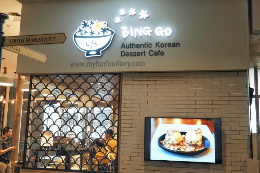 Tampak Luar Bing Go Korean Dessert Cafe by Myfunfoodiary