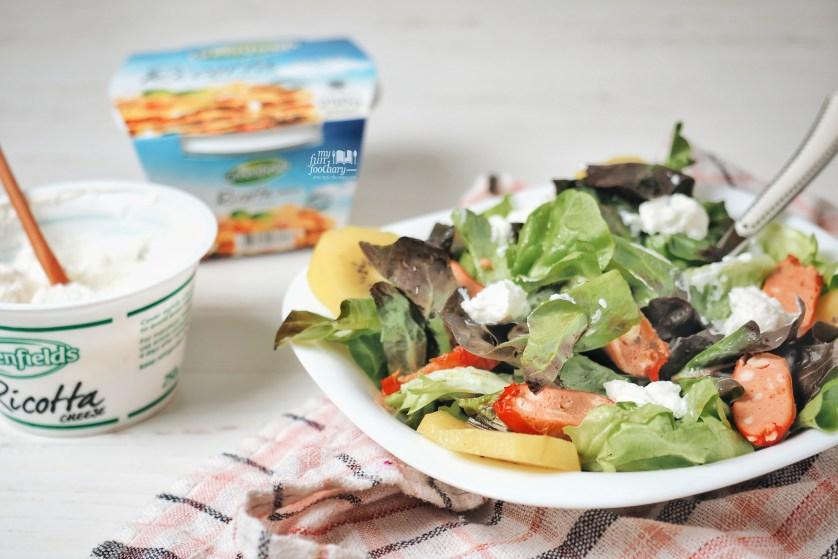 Sausage Salad Ricotta by Myfunfoodiary