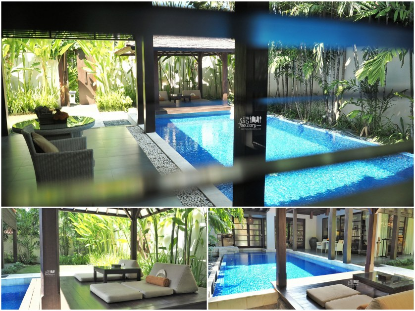 View of my private pool - Villa De Daun Kuta Bali by Myfunfoodiary