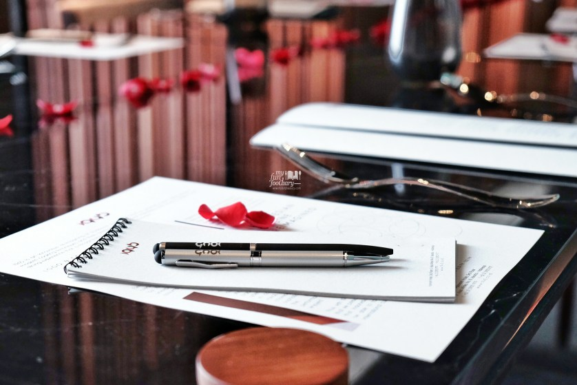 Custom Paper and Pen at 1945 Restaurant Fairmont Hotel Jakarta by Myfunfoodiary