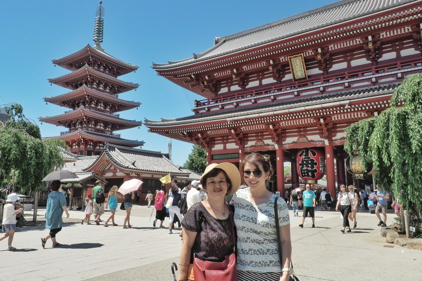 Me and Mom in Law at Sensoji Temple by Myfunfoodiary