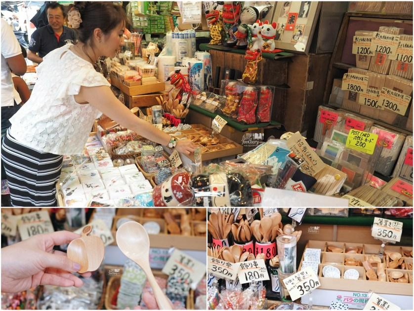 Shopping wood tools at Tsukiji Market by Myfunfoodiary