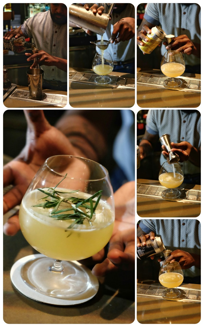 The Making of Golden Age Cocktail at Adrift Marina Bay Sands by Myfunfoodiary