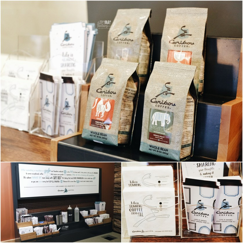 Beans and all packaging well-designed at Caribou Coffee Senopati by Myfunfoodiary
