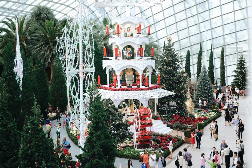 Christmas Toyland area inside the Flower Dome at Gardens By The Bay 2015 by Myfunfoodiary
