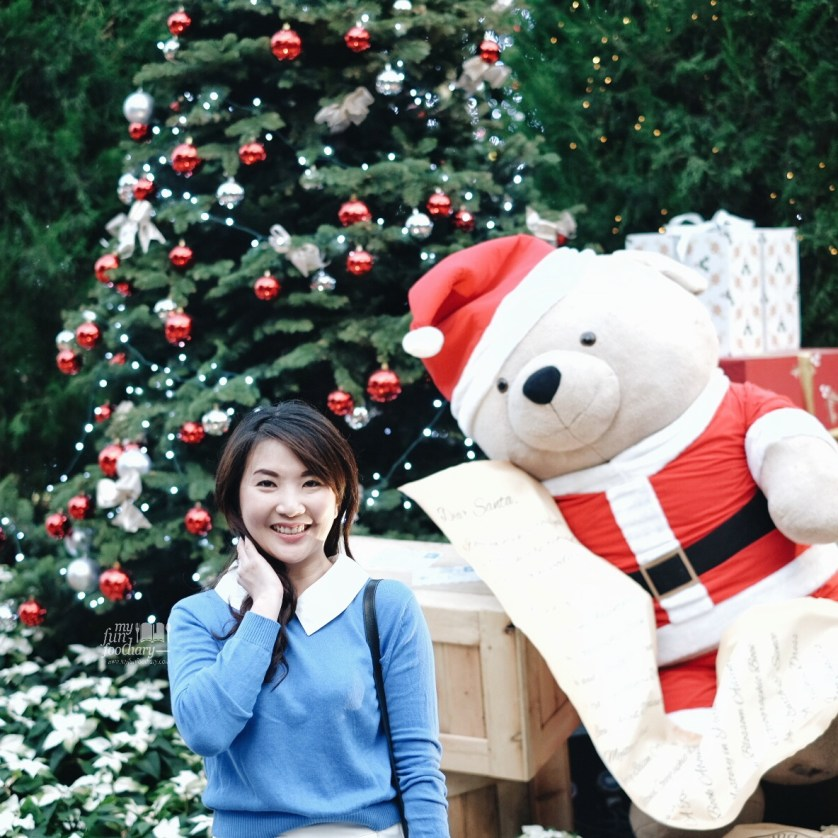 Mullie Marlina and Santa Bear at Christmas Toyland - Gardens By The Bay 2015 by Myfunfoodiary