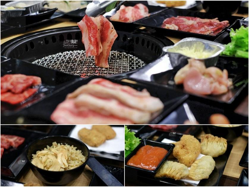 Karubi - Garlic Rice - Fried Wonton at Gyukaku Lippo Mall Puri by Myfunfoodiary