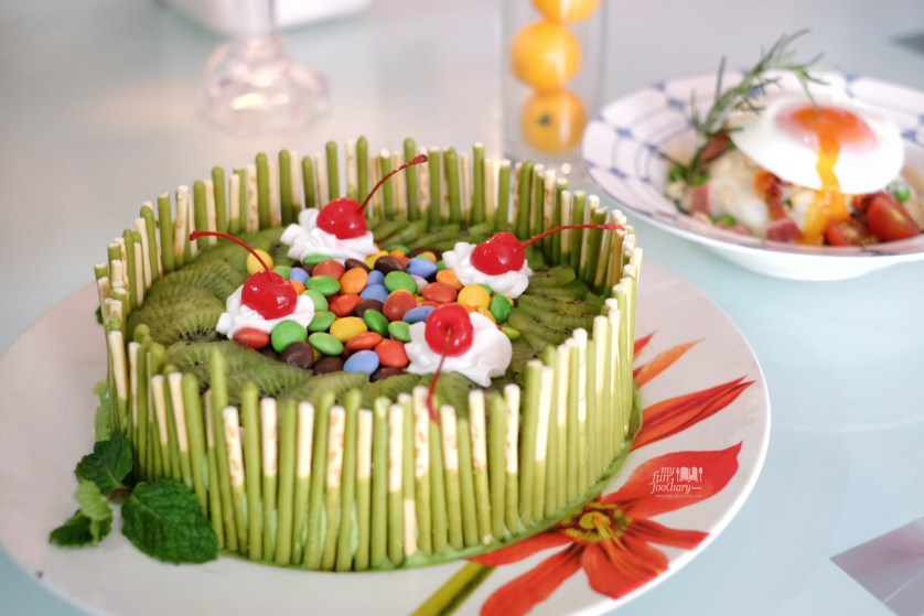 Eco Green Matcha Cake by Chef Billy - By Myfunfoodiary