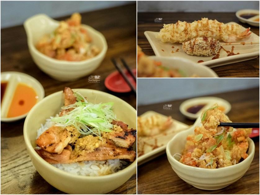 Mini Garlic Butter Yakitori - Chicken Karaage - Tempura using Lakupon Voucher at Donburi Ichiya by Myfunfoodiary