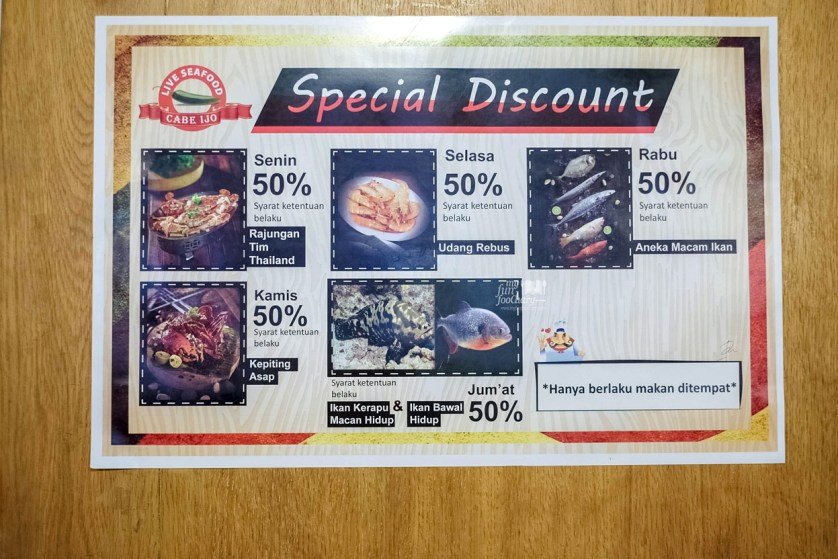 Promo Diskon at Cabe Ijo Seafood by Myfunfoodiary