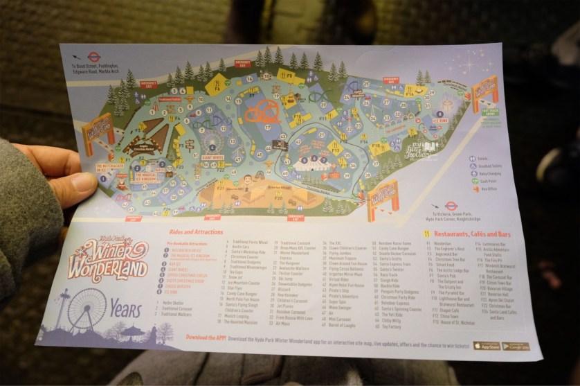 LONDON Winter Wonderland Christmas Festive Hyde Park - Winter wonderland london map 2016