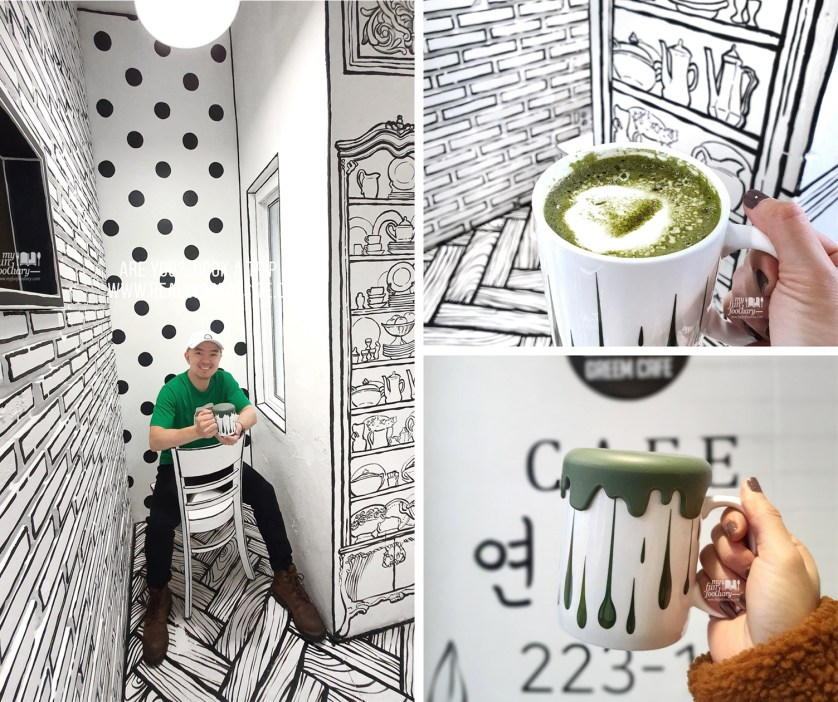 SEOUL 2D Cartoon Instagramable Cafe at Greem Cafe ...