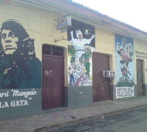 revolutionary street art in Leon, Nicaragua