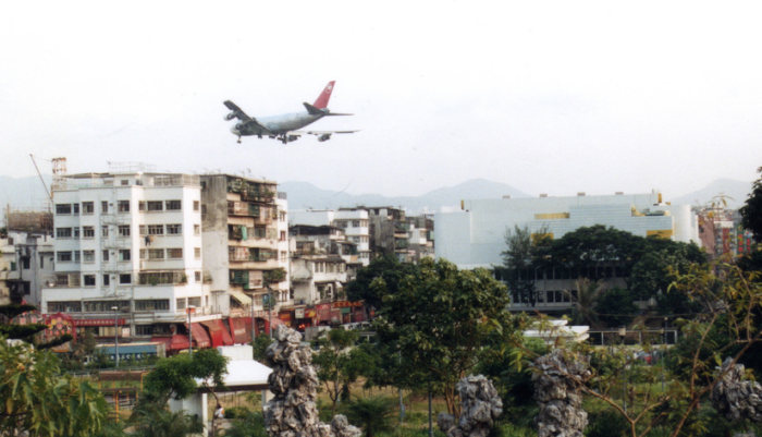 Kai Tak airport approach