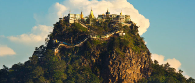 mount popa temple in myanmar