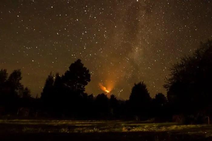 Villarrica night sky