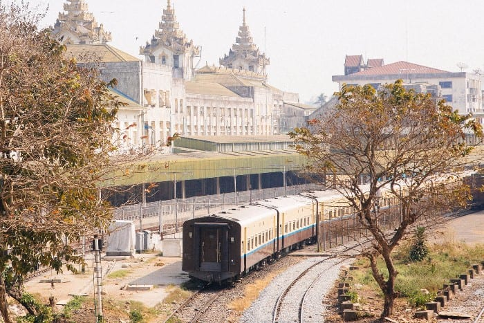 backpacking route for Myanmar