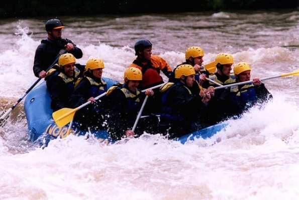 white water rafting in the Indian Himalayas