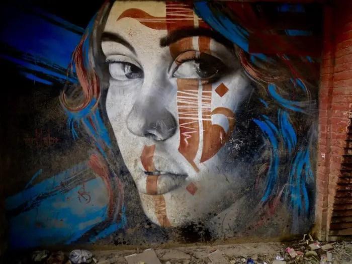 Street art in Nepal