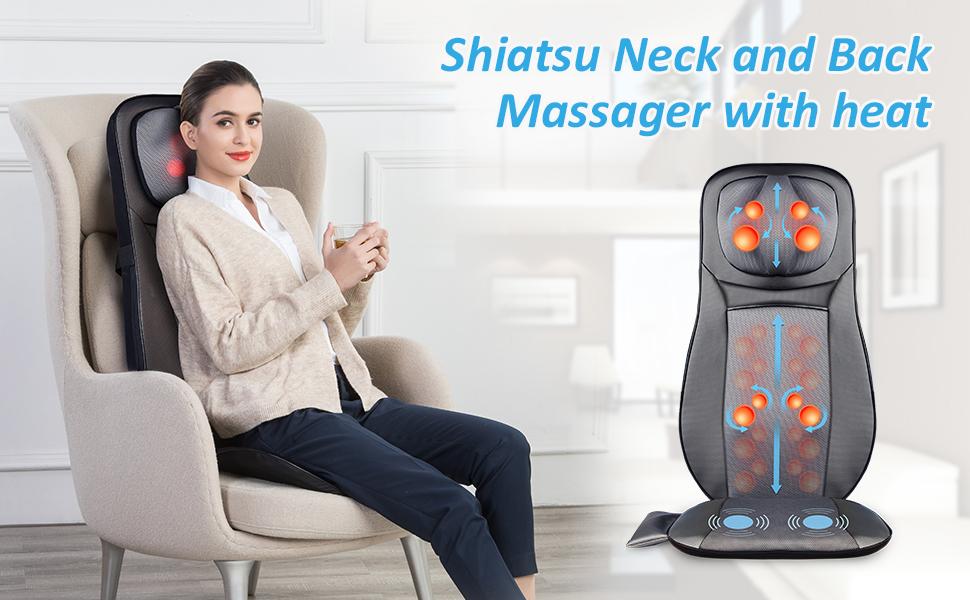 Snailax shiatsu Neck Back Massager with Heat
