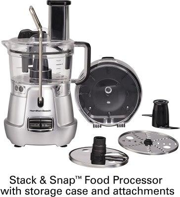 Hamilton Beach Stack Snap 8 Cup Food Processor