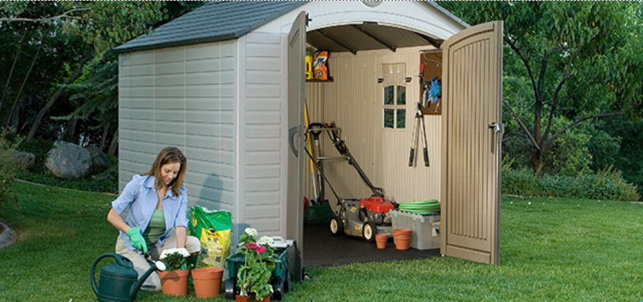 Lifetime 6405 Outdoor Storage Shed with window 1