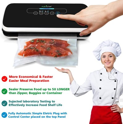NutriChef Vacuum Sealer Automatic Vacuum Air Sealing System 1