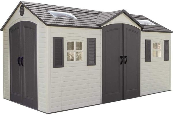 lifetime 15x8 dual entry outdoor storage shed