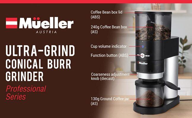 Mueller Ultra Grind Conical Burr Grinder0