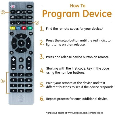 GE Universal Remote Control for