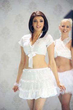 Kajal Agarwal Cutest Stills in White Dress | Kajal Agarwal Wiki