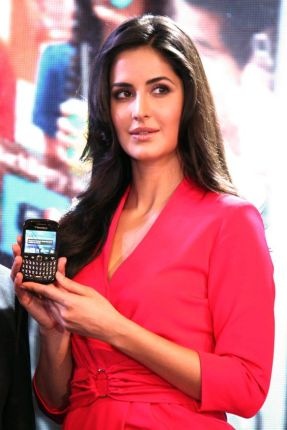 Bollywood actress Katrina Kaif at the launch of BlackBerry's Curve 9220 smartphone, in New Delhi on Wednesday. (Photo: IANS)