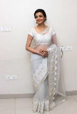 kajal-agarwal-hot-stills-in-white-saree-1