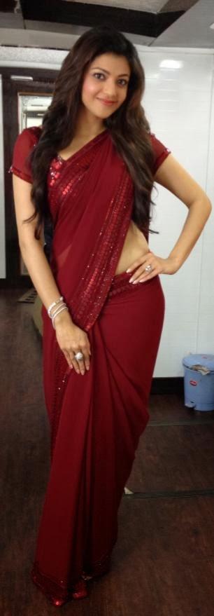 kajal-agarwal-in-saree-sexy-new-photo