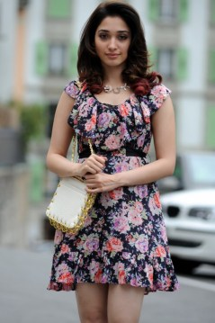Actress Tamanna Latest Hot Pics in Floral Skirt