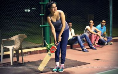 Ankita Lokhande was snapped practicing for Box Cricket League