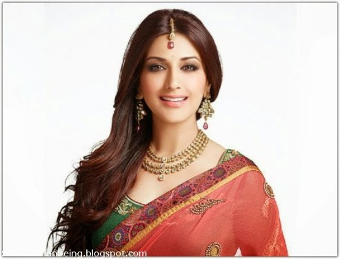 Sonali bendre looking gorgeous in saree ads photoshoot pics sabhotcom (2)