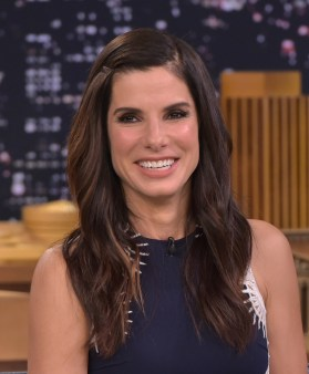 """NEW YORK, NY - OCTOBER 28: Sandra Bullock Visits """"The Tonight Show Starring Jimmy Fallon"""" at Rockefeller Center on October 28, 2015 in New York City. (Photo by Theo Wargo/NBC/Getty Images for """"The Tonight Show Starring Jimmy Fallon"""")"""