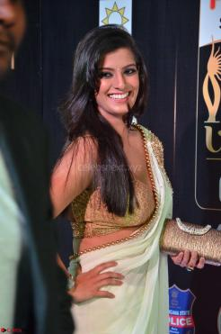 Varalakshmi in Cream Saree Sleeveless Backless Deep Neck Choli at IIFA Utsavam Awards March 2017 004