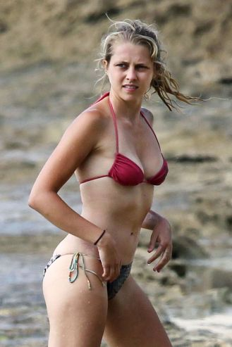 TERESA PALMER in Bikini at the Beach in Hawaii
