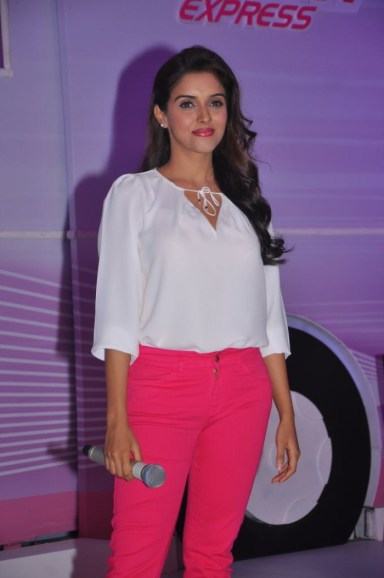 Asin Thottumkal at the launch of Fair & Lovely Expert Express in Hyderabad