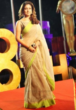 nayantara-saree-vijay-tv-awards-2014