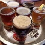 地ビールのテイスティング