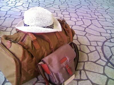 旅行、バッグ