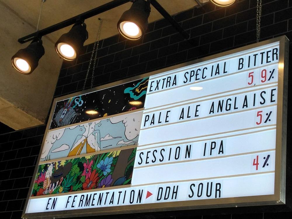 Dispensaireモントリオールのクラフトビール、メニュー