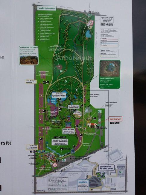 モントリオール植物園地図